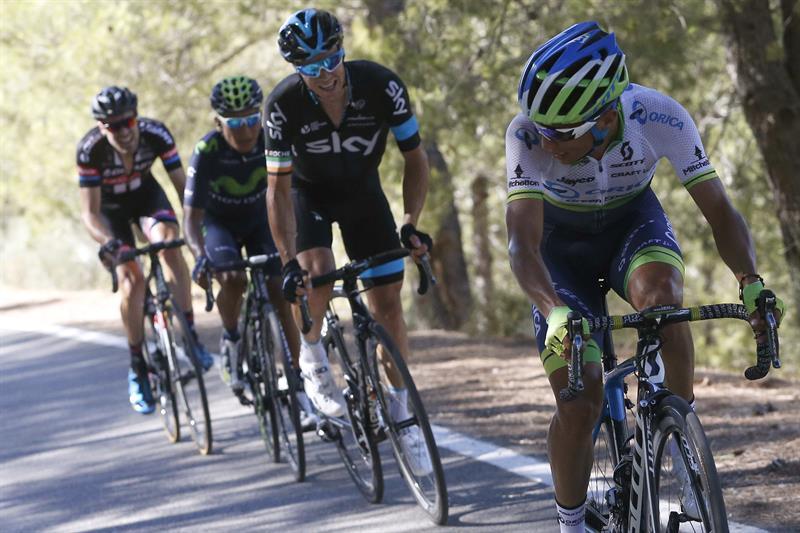 Esteban Chaves ganó la segunda etapa y lidera la general, la montaña, los puntos y la combinada. Foto: EFE