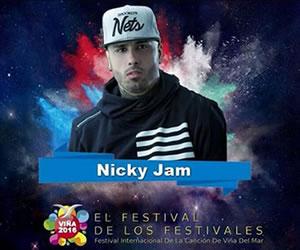 Nicky Jam estará en Viña del Mar 2016