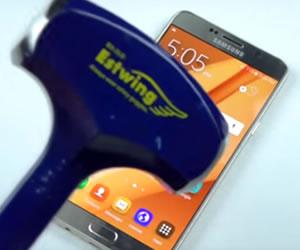 ¿Quién ganará,el Samsung Galaxy Note 5 o un martillo de acero?