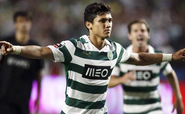 Fredy Montero hizo el único tanto del Sp. Lisboa ante el Lokomotiv. Foto: EFE