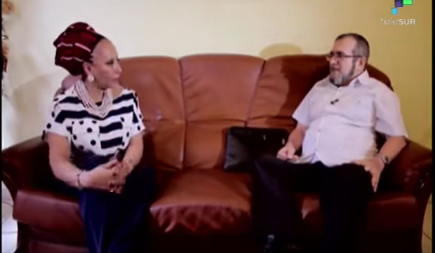 Timochenko en entrevista con Piedad Córdoba. Foto: Youtube