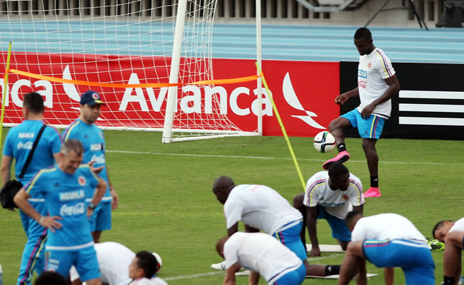 Entrenamiento de la Selección Colombia. Foto: EFE