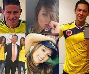 Así apoyaron los famosos a la Selección Colombia