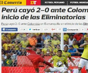 Así titula prensa peruana su derrota y el triunfo de Colombia