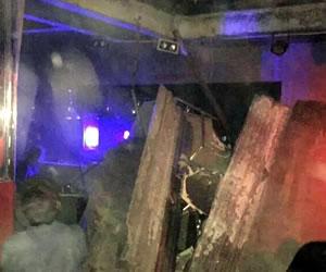 Se desploma el techo del reconocido bar 'Billares Londres'