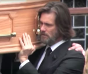 Jim Carrey llevó el ataúd de su exnovia Cathriona White