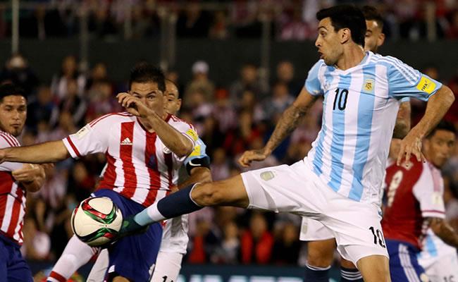 Argentina empató como visitante ante Paraguay. Foto: EFE