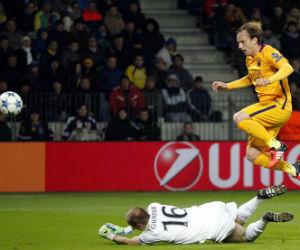 Rakitic le dio la victoria al Barcelona y tumbó al BATE