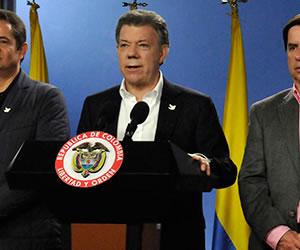 """""""Resultados electorales son un apoyo a la paz"""": Santos"""