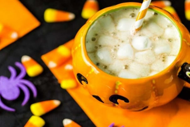 Chocolate blanco para Halloween