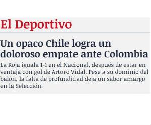 El efecto Selección Colombia en la prensa chilena