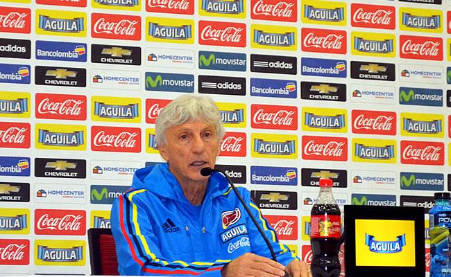 José Nestor Pékerman en rueda de prensa. Foto: Interlatin