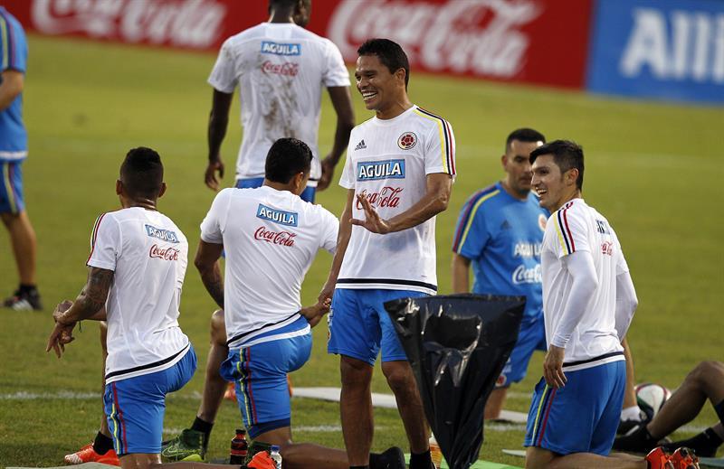 Colombia se pone a punto para recibir a Argentina en la eliminatoria mundialista. Foto: EFE