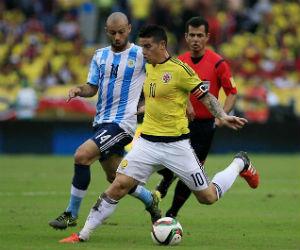 La Selección Colombia perdió ante Argentina
