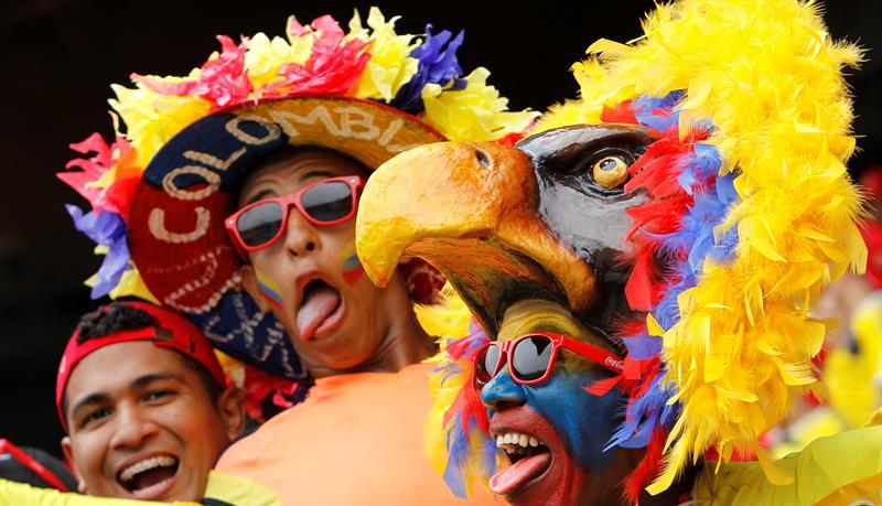 Galería, el color de la afición en el duelo entre Colombia y Argentina
