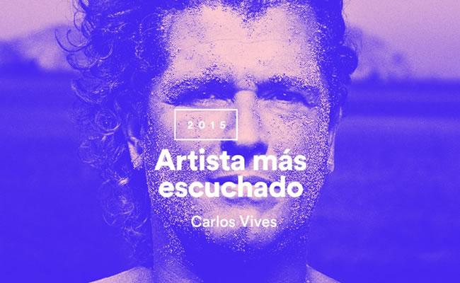 Carlos Vives es el artista más escuchado del año en Spotify