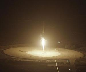 SpaceX logra un Insólito aterrizaje de un cohete