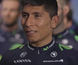 Nairo Quintana participó en el video del balance del Movistar Team en 2015