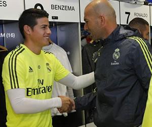 James Rodríguez y su primer entrenamiento con Zidane