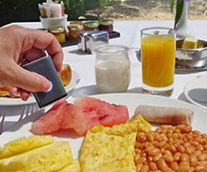 Dispositivo escanea la comida y muestra su valor nutricional