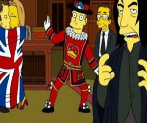 Los Simpsons le hicieron tributo a David Bowie y a Alan Rickman