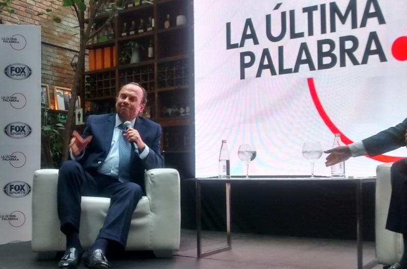 Hernán Peláez en el lanzamiento de 'La última Palabra Colombia'. Foto: Interlatin