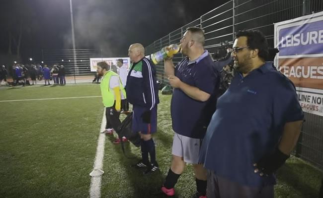 'Gordos' durante un partido de la liga. Foto: Youtube