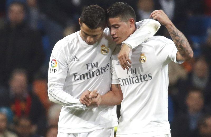 James Rodríguez hizo un gol y un pase gol en el 6-0 sobre el Espanyol. Foto: EFE
