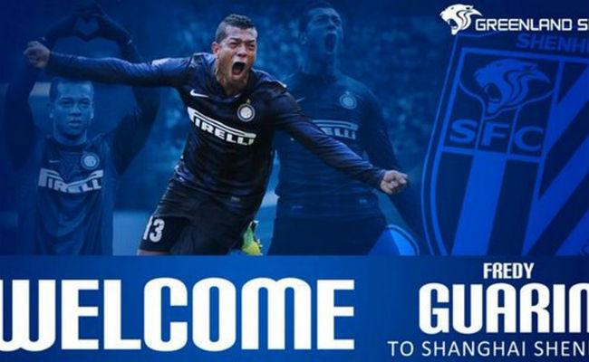 Fredy Guarín es nuevo jugador del Shanghái Chenua de China. Foto: Twitter