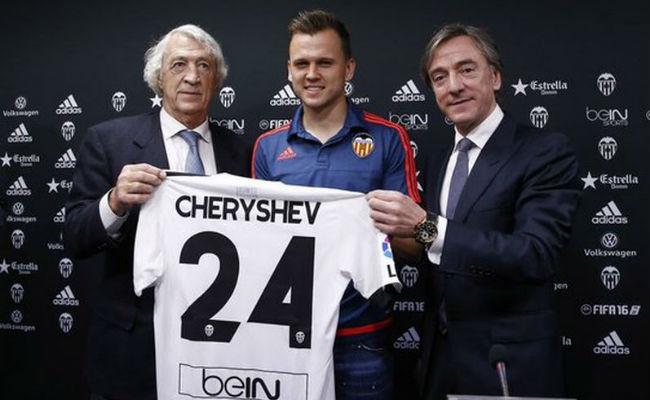 Denis Cherysev fue prestado por el Real Madrid al Valencia. Foto: Twitter