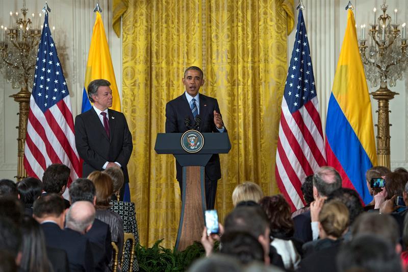 En imágenes, Obama y Santos lanzan el plan 'Paz Colombia'