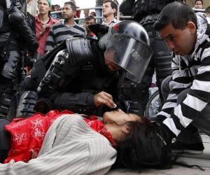 Protestas y represión en Transmilenio