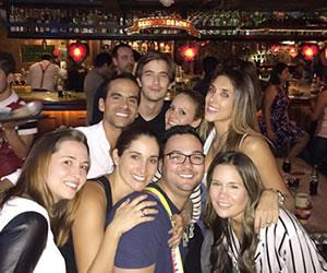 Daniela Ospina se fue de fiesta en Bogotá