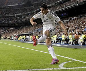 James Rodríguez fue titular en la victoria del Madrid sobre el Levante