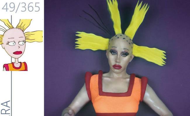 'Drag Queen' recrea icónicas caricaturas de los años 90