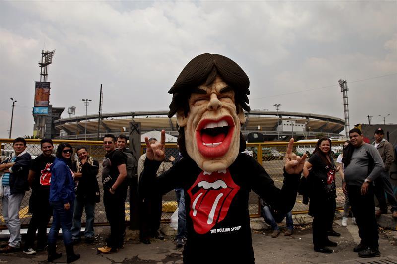 En fotos, el 'show' de los fanáticos de los Rolling Stones