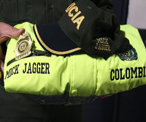 Los Rolling Stones y el regalo de la Policía Metropolitana de Bogota