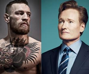Conor McGregor le dió una paliza al presentador Conan O'Brien