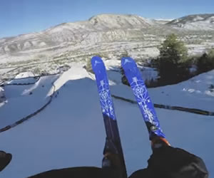 YouTube: Increíble descenso en skies desde una GoPro