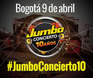 Jumbo Concierto en Medellín y Bogotá