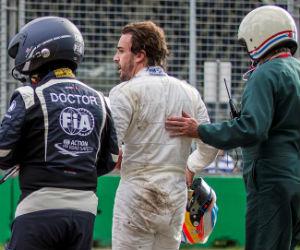 Fernando Alonso y su impresionante accidente en Australia