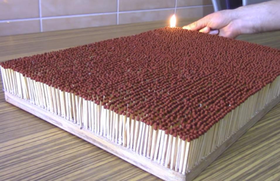 YouTube: Esto es lo que pasa al encender 6.000 fósforos a la vez