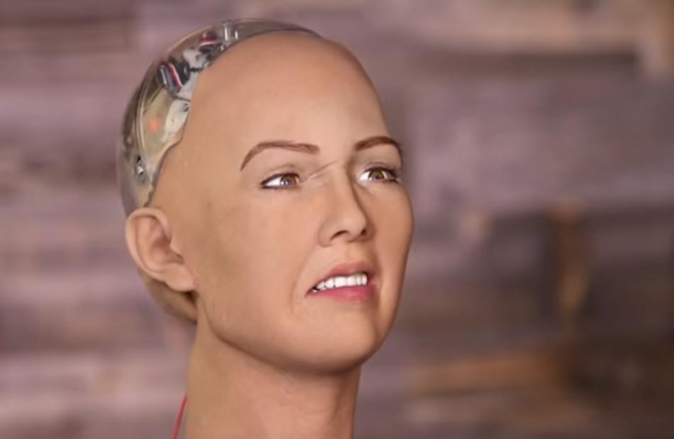 Sofía, el robot humanoide. Foto: Youtube