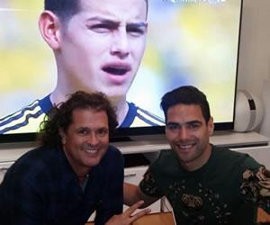 Falcao García y Carlos Vives apoyan a la selección Colombia desde Inglaterra