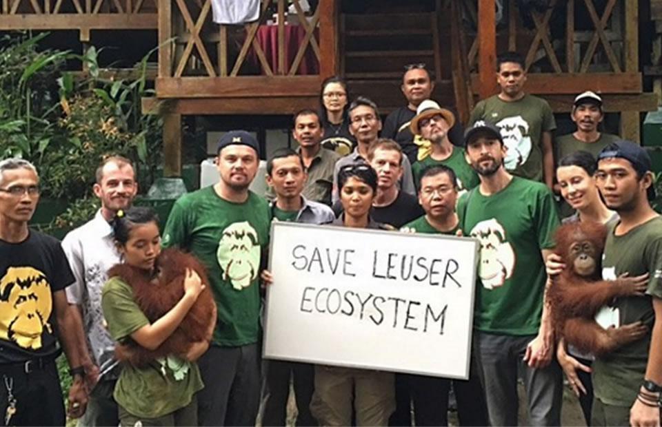 Leonardo DiCaprio visitó ecosistema de Leuser en Indonesia