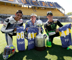 Moto GP: Yonny Hernández visitó el estadio La Bombonera