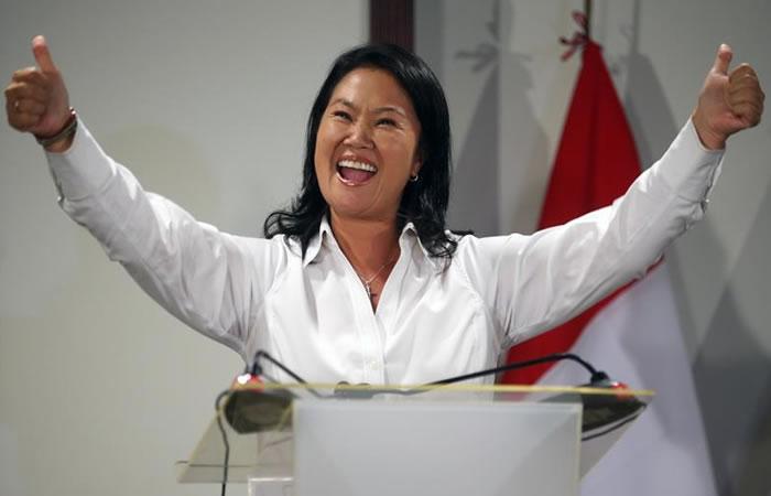 Keiko Fujimori candidata a la presidencia del Perú. Foto: EFE