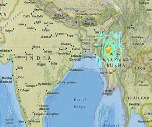 Sismo de 7º al norte de Birmania sacude hasta la India