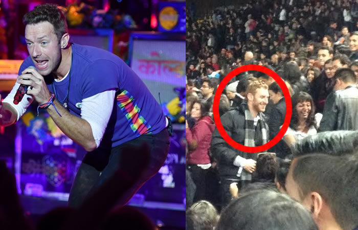 El falso Chris Martin que se robó el show en Bogotá. / Colombia.com. Foto: EFE