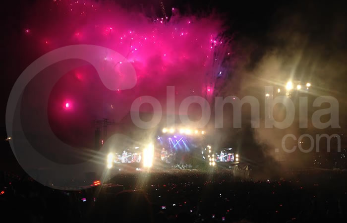 Coldplay en Bogotá. Foto: Interlatin